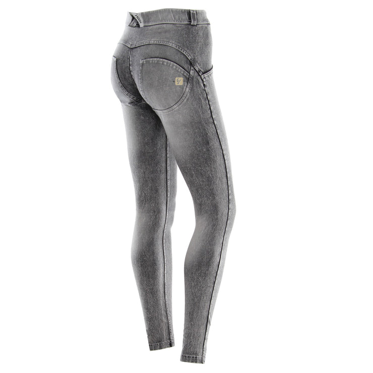 Freddy Wr.Up® Skinny Regular Waist Grey Pants In Bleached Light Denim
