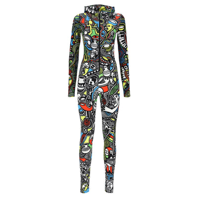 (F9WLAD1-ALLN) HOODED JUMPSUIT - LAOLU NYC WOMEN'S COLLECTION