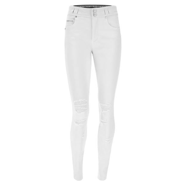 (IT_NOW1MS110_W) N.O.W.® Pants trousers with concealed belt loops and rips