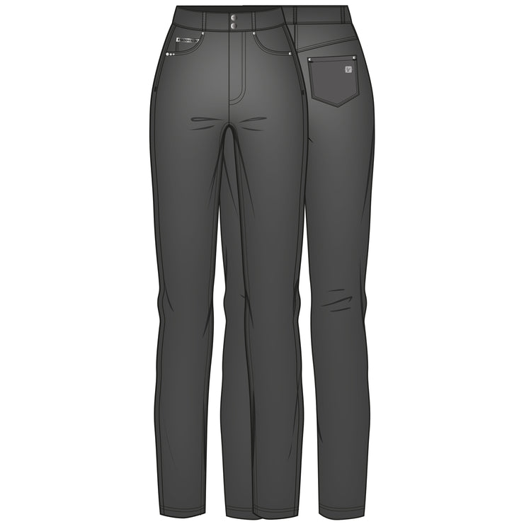 (NOW3MC006-N)SLIM-FIT STRAIGHT LEG N.O.W.® PANTS TROUSERS IN FAUX LEATHER