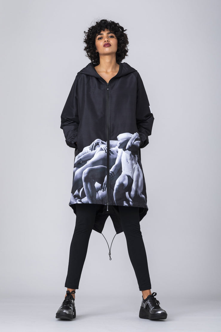 (IT_S0ULTJ3_NW7) Parka Unisex printed with FREDDY A Choreography by Luca Tommassini