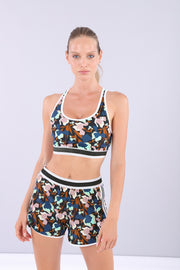 (IT_S0WMIB1_BMP) Women's floral yoga top - 100% Made in Italy