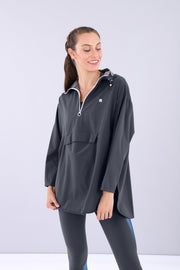 (IT_S0WMIJ1_B84) Water repellent hooded jacket - 100% Made in Italy