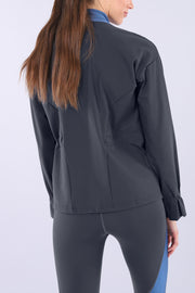(IT_S0WMIS1_B84B) Women's zip-front yoga sweatshirt - 100% Made in Italy