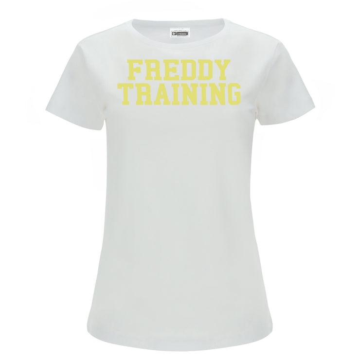 (IT_S0WTRT1_WY95) T-shirt with a contrast FREDDY TRAINING print