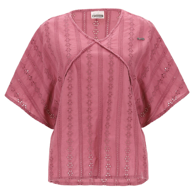 (IT_S0WTWT4_F94X) Vintage-style comfort-fit kimono t-shirt in broderie anglaise