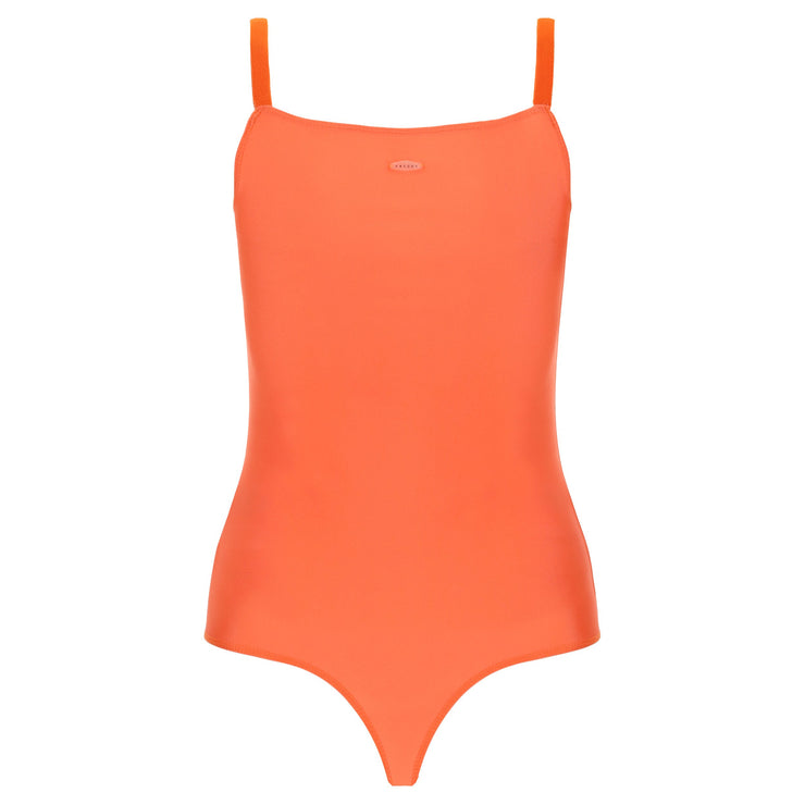 (IT_S0WTWY6_A77) Jersey bodysuit with a square neckline and stretch straps