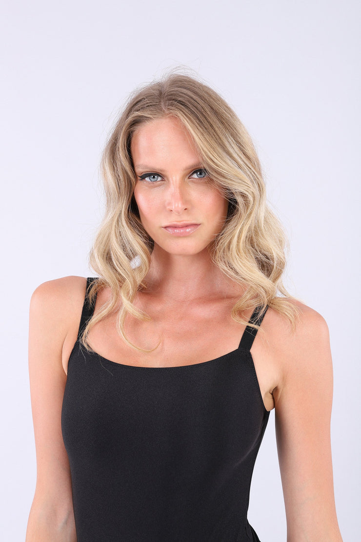 (IT_S0WTWY6_N) Jersey bodysuit with a square neckline and stretch straps