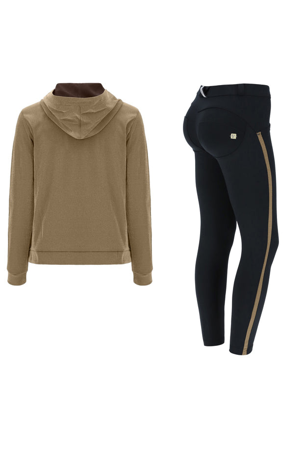 (S0WWTK2-O29N) WR.UP®-IN TRACKSUIT WITH ANKLE-LENGTH SCULPTING TROUSERS AND A LUREX SWEATSHIRT