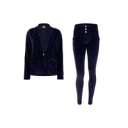 (S0WWTK3-B94) WR.UP®-IN - BLUE VELVET TRACKSUIT WITH A BLAZER AND WR.UP® SKINNY PANTS