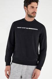 (IT_S1MBCS4_N) Crew neck stretch sweatshirt with a FREDDY SPORT BOX print