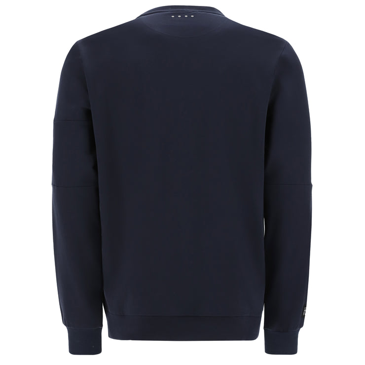 (IT_S1MBLS3_B109) Crew neck stretch sweatshirt with a pocket on the sleeve