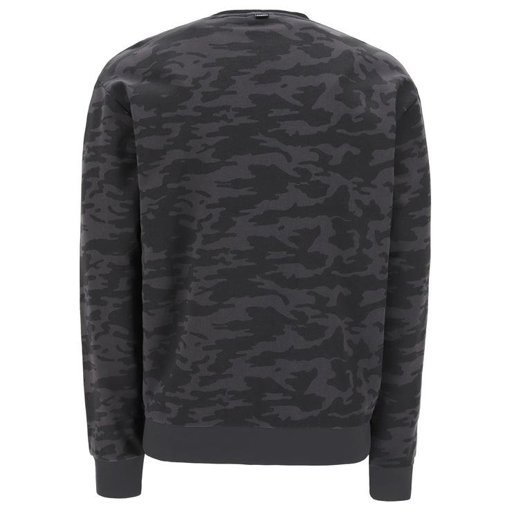 (IT_S1MFSS4C_CAMO11) Dark camouflage comfort-fit crew neck sweatshirt