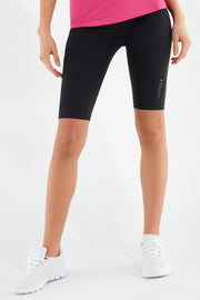 (S1WBCP13-N) PLAIN COLOUR CYCLING SHORTS WITH A SHINY PRINT