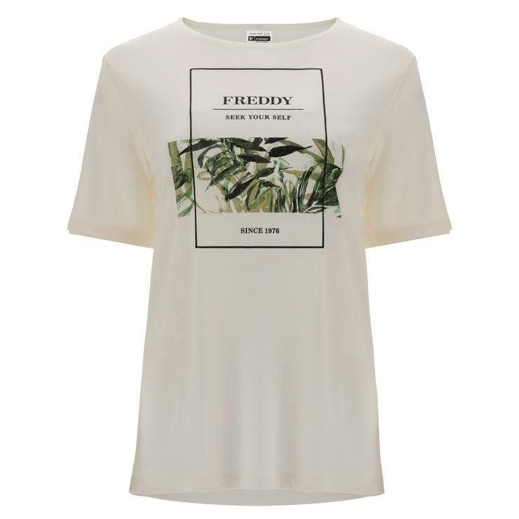 (IT_S1WSLT2_WFLO10) Comfort-ft t-shirt in a plant-based fabric with a tropical print