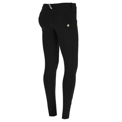 Freddy Skinny Wr.Up® Black Pants In Yarn-Dyed D.I.W.O.® Pro Fabric With Regular Waist