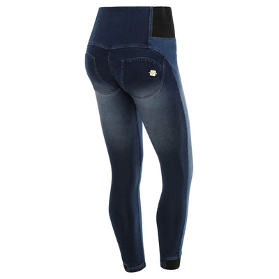 (WRUP1ZHA05E-J36B) Wr.Up® Shaping Effect - Blue - High Waist - Crinckle