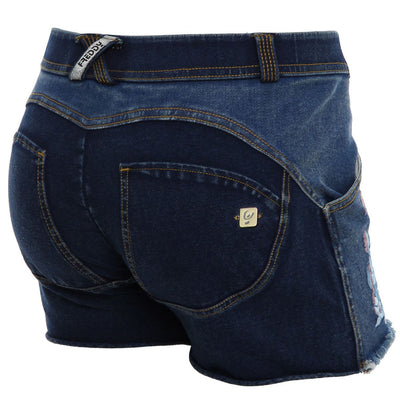 (WRUP9LJ19E-J0Y) Wr.Up® Shaping Effect - Blue - Low Waist - Skinny - Shorts