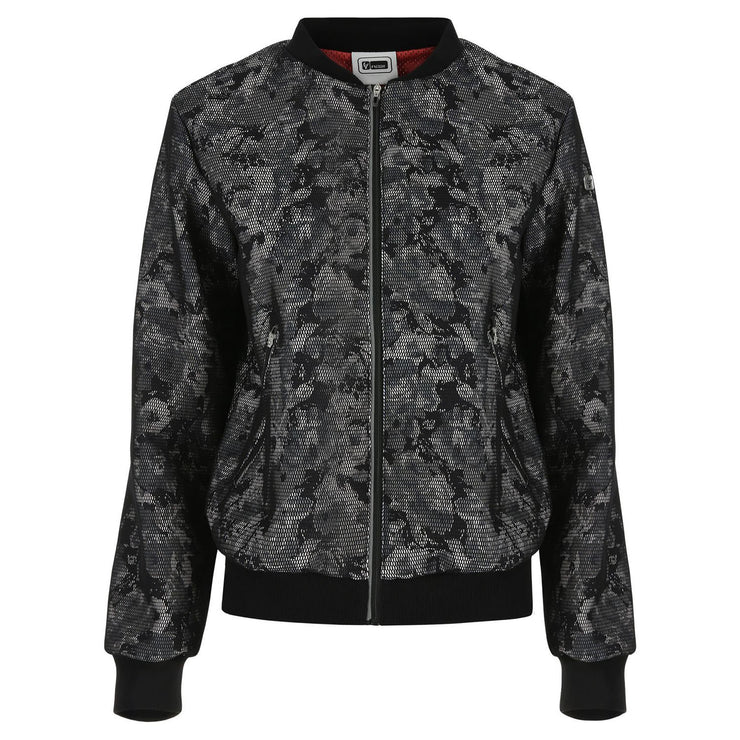 Freddy Print Bomber In Mesh-Lined French Terry