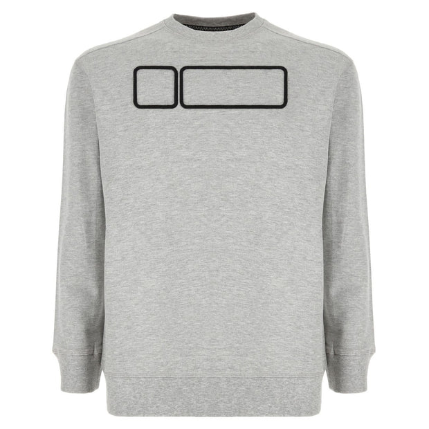 (S9UGES1M-H) MÉLANGE UNISEX COTTON FRENCH TERRY SWEATSHIRT WITH A FREDDY NO-LOGO
