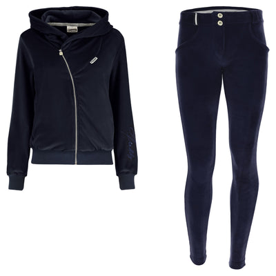 (S9WTRK6-B94)WR.UP-IN - BLUE VELVET TRACKSUIT WITH A HOOD AND WR.UP® PANTS