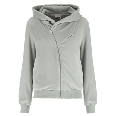 (S9WJCK6-G95) WR.UP-IN - GREY VELVET JACKET WITH A HOOD