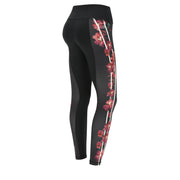 (SF5HS105-N) BREATHABLE ANKLE-LENGTH SUPERFIT LEGGINGS WITH FLORAL DETAILS