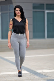 (WRN2RC001-H40) WR.UP® CURVY FIT GREY SKINNY PANTS