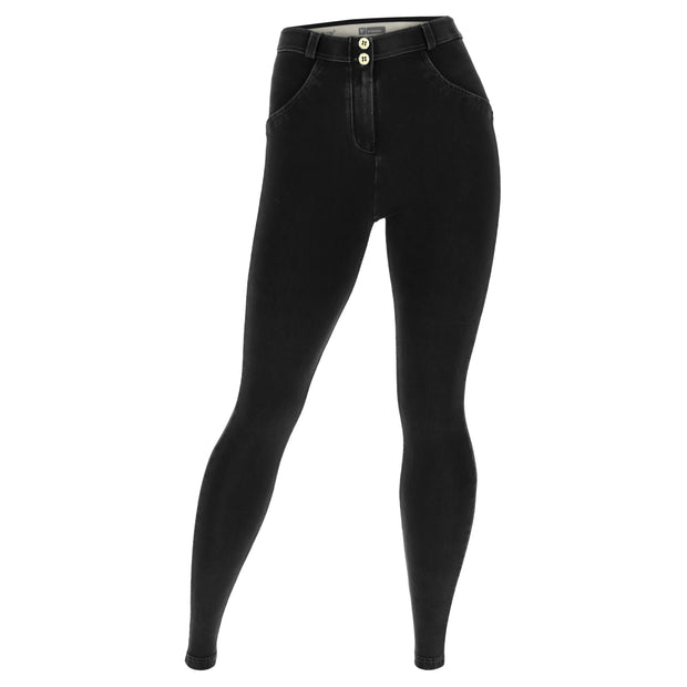 (WRN2RC002-J7N) SCULPTING CURVY-FIT WR.UP® PANTS IN BLACK DENIM