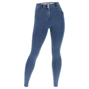 (WRN2RC003-J4Y) SHAPING CURVY-FIT WR.UP® PANTS IN LIGHT BLUE DENIM