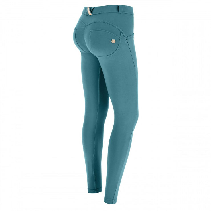 (WRUP2RC001-V22) WR.UP® REGULAR-WAIST SUPER SKINNY GREEN PANTS