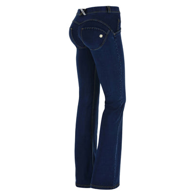 (WRUP11RC002-J0Y) WR.UP® FLARE REGULAR-RISE STRETCH DENIM BLUE PANTS