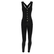 (WRUP16C002-J7N) SKINNY WR.UP® BLACKOVERALLS IN DENIM-EFFECT COTTON