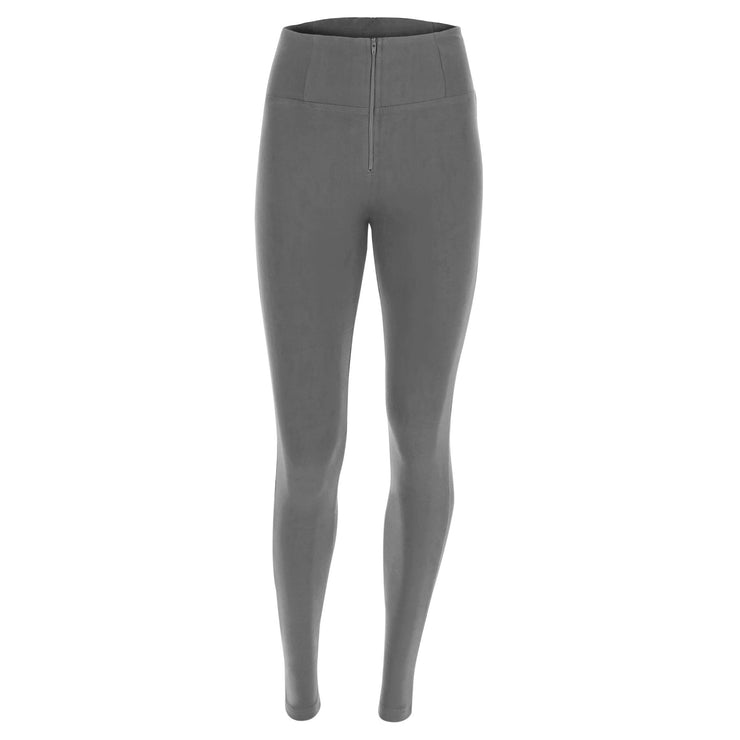(WRUP1HC001-G14) WR.UP® HIGH-RISE SKINNY-FIT GREY PANTS IN STRETCH COTTON