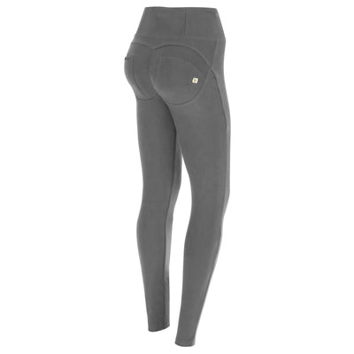 Freddy Wr.Up® High-Rise Skinny-Fit Grey Pants In Stretch Cotton