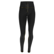 (WRUP1HC002-J7Y) WR.UP® HIGH-WAIST SKINNY-FIT BLACK PANTS IN STRETCH DENIM
