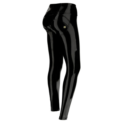 (WRUP1HF930-N) HIGH-WAIST WR.UP® SKINNY BLACK LATEX PANTS