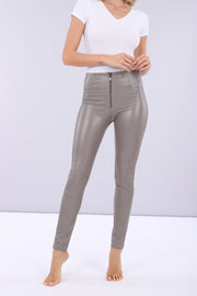 (WRUP1HF945-ANI5) SKINNY WR.UP® PANTS IN PYTHON-EFFECT FAUX LEATHER