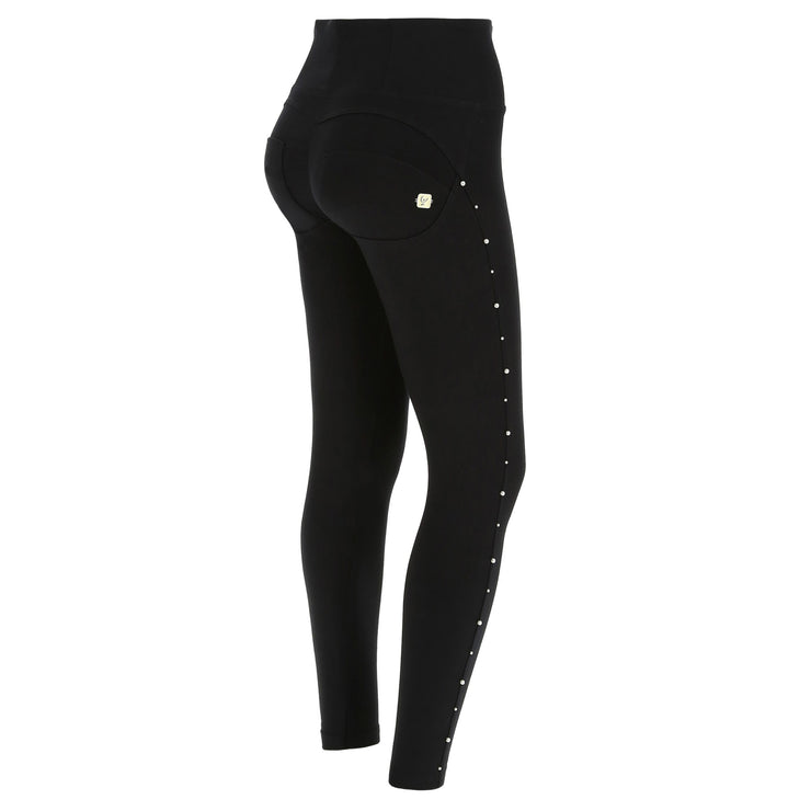 Freddy Wr.Up® High Waist Black Pants With Silver Perls