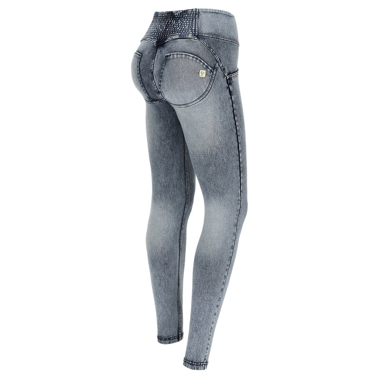 (WRUP1MS007-J19B)MID-WAIST ACID WASH WR.UP® PANTS