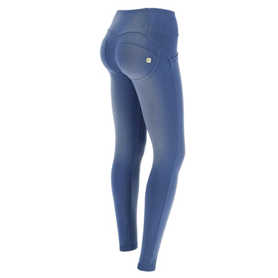 Freddy Wr.Up® Mid-Rise Skinny Blue Pants With Buttons