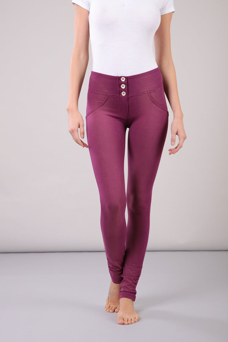 (WRUP1MS917-E51) WR.UP® MID-RISE SKINNY PURPLE PANTS WITH BUTTONS