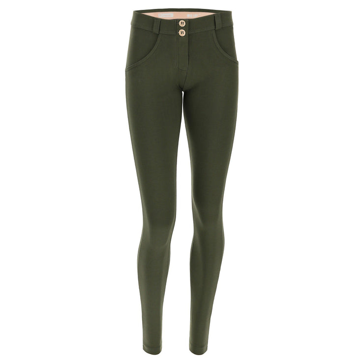 (WRUP2RC001-V32) WR.UP® SKINNY-FIT STRETCH COTTON GREEN PANTS