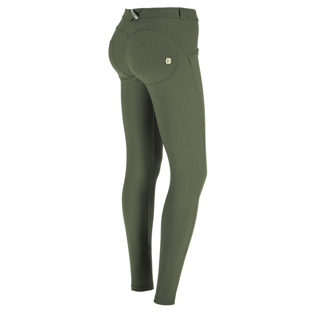 (WRUP1RC004-V69) WR.UP® REGULAR-RISE SKINNY-FIT GREEN PANTS IN D.I.W.O.®