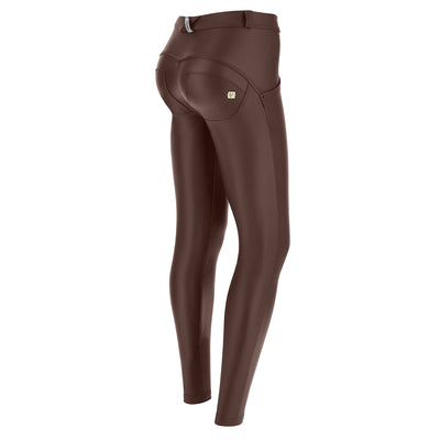Freddy Wr.Up® Regular-Rise Skinny-Fit Brown Pants In Faux Leather