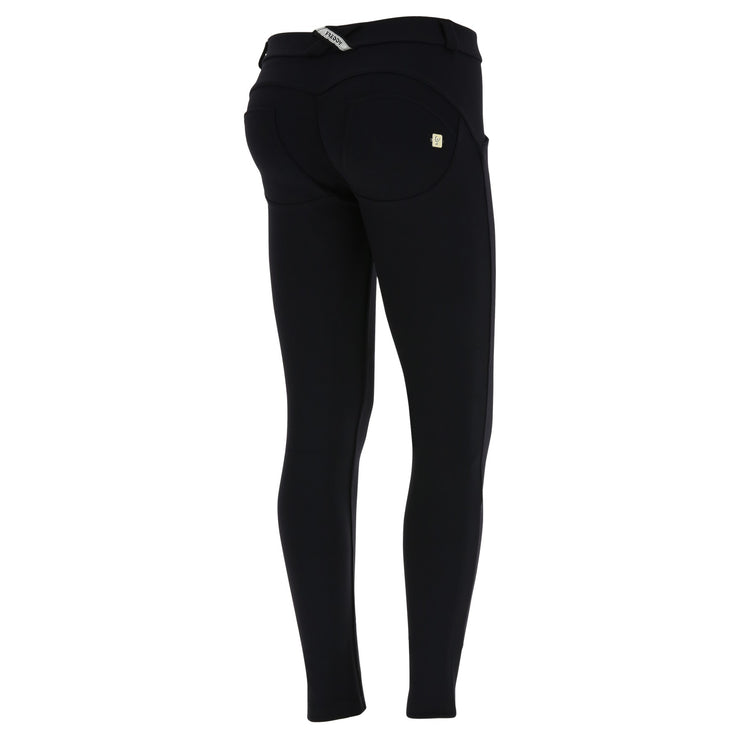 Freddy Regular-Rise Skinny-Fit Black Pants In Made-In-Italy Fabric