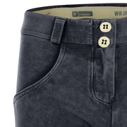 (WRUP1RF823-B94) WR.UP® REGULAR-WAIST SKINNY-FIT BLUE PANTS WITH ACID-WASHED EFFECT