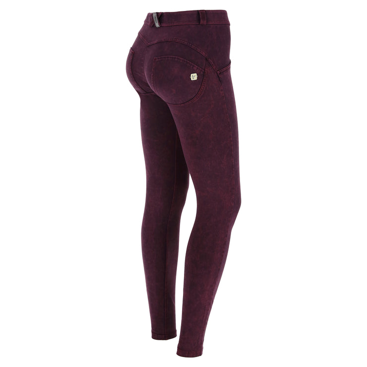 Freddy Wr.Up® Regular Waist Skinny-Fit Purple Pants With Acid-Washed Effect