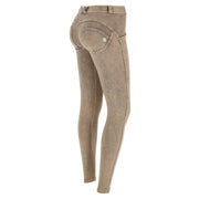 Freddy Wr.Up® Regular Waist Skinny-Fit Beige Pants With Acid-Washed Effect
