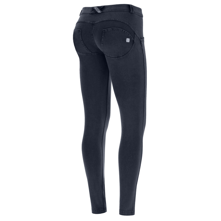 Freddy Wr.Up® Regular-Rise Skinny-Fit Blue Pants With A Distressed Effect